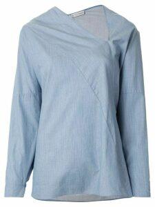 Palmer / Harding long-sleeve flared blouse - Blue