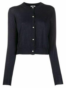 Miu Miu pearl-effect buttoned cardigan - Blue