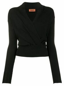 Missoni long sleeve wrap front top - Black