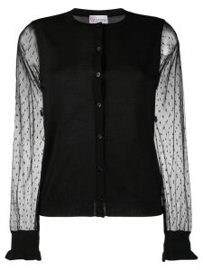 RedValentino tulle sleeves cardigan - Black