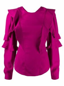 Isabel Marant Étoile pleated ruffle detail blouse - PINK