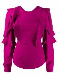 Isabel Marant Étoile pleated ruffle detail blouse - PINK
