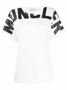 Moncler logo print oversized T-shirt - White