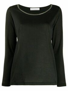 Fabiana Filippi bead-embellished T-shirt - Black