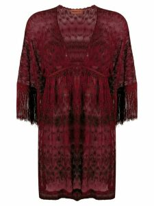 Missoni Mare V-neck sheer cover-up - Red