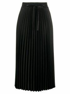 RedValentino pleated midi skirt - Black