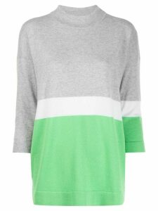 Fabiana Filippi colour block jumper - Grey