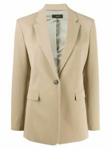 Joseph single breasted comfort-fit blazer - NEUTRALS