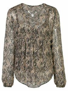 Veronica Beard snakeskin print blouse - NEUTRALS