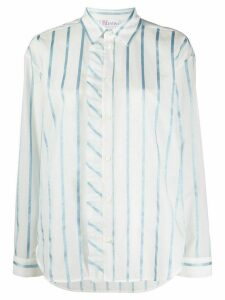 RedValentino glitter striped shirt - White