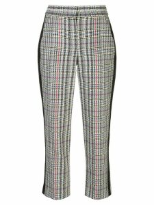 Veronica Beard cropped houndstooth print trousers - Black