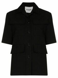 Jil Sander cropped shirt jacket - Black