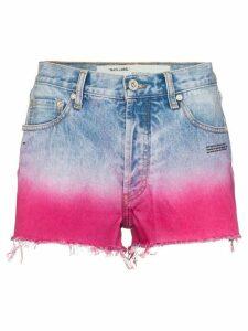Off-White dip-dyed raw hem shorts - Blue
