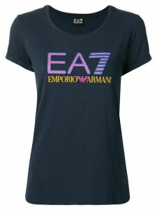 Ea7 Emporio Armani Train Studded Logo T-shirt - Blue