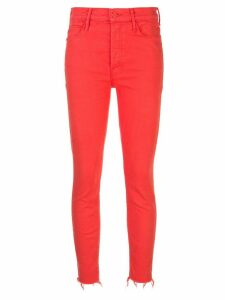 Mother denim cropped skinny jeans - Red