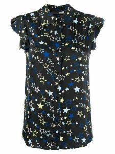 Love Moschino heart print frill sleeve shirt - Black