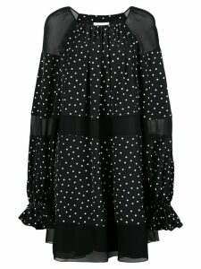 Noon By Noor polka dot print mini dress - Black