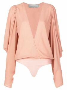Silvia Tcherassi Hoshi wrap body blouse - PINK