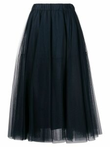 P.A.R.O.S.H. Nulle A-line maxi skirt - Blue