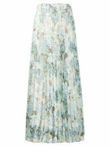 P.A.R.O.S.H. floral print pleated skirt - NEUTRALS
