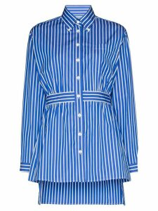 Prada striped poplin shirt - Blue