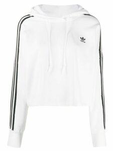 adidas Originals cropped hoodie - White