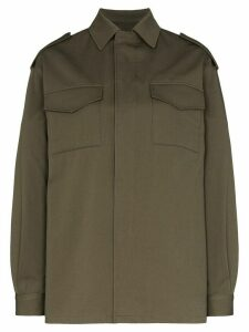 Valentino VLOGO stitched shirt jacket - Green