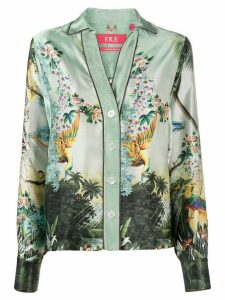 F.R.S For Restless Sleepers Anaideia silk shirt - Green