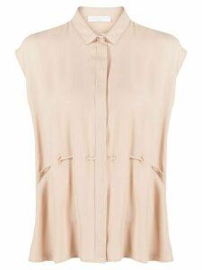 Fabiana Filippi textured paperbag style shirt - NEUTRALS