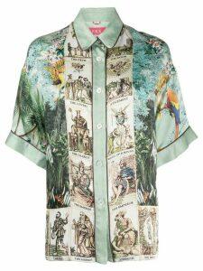 F.R.S For Restless Sleepers Eupheme contrast print silk shirt - Green