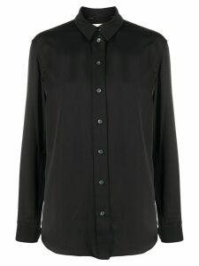 Calvin Klein curved hem buttoned shirt - Black