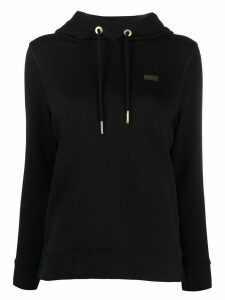 Barbour chest logo hoodie - Black