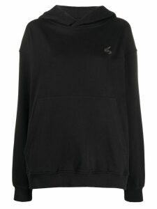 Vivienne Westwood Anglomania logo patch hoodie - Black