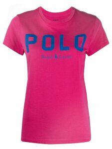 Polo Ralph Lauren logo print T-shirt - PINK
