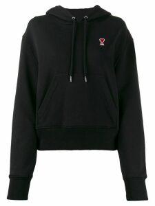 Ami Paris Ami De Coeur patch hoodie - Black