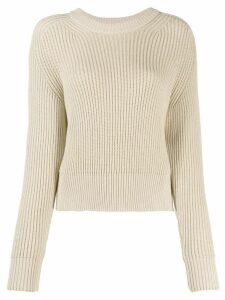 Ami Paris crew neck knitted jumper - NEUTRALS