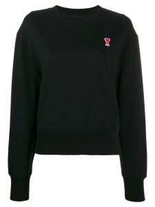 Ami Paris Ami De Coeur Patch Sweatshirt - Black