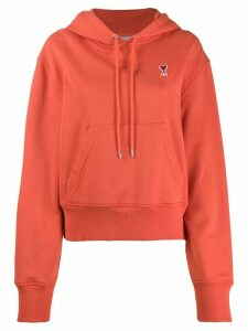 Ami Paris Ami De Coeur Patch Hoodie - Red
