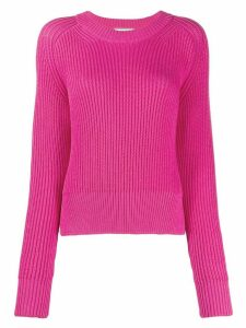 Ami Paris crew-neck knitted jumper - PINK