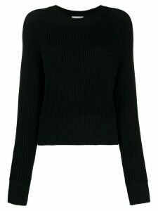 Ami Paris crew neck knitted top - Black