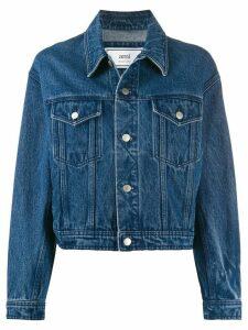 Ami Paris boxy-fit denim jacket - Blue