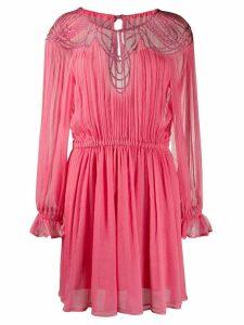 Alberta Ferretti cutout gathered dress - PINK