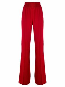 Prada high-waisted straight-leg trousers - Red
