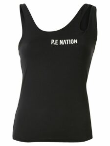 P.E Nation jersey workout tank top - Black