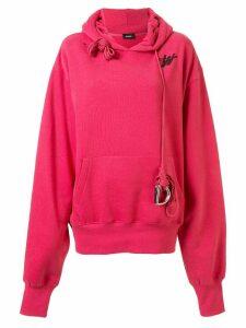 We11done oversized monogram logo hoodie - PINK