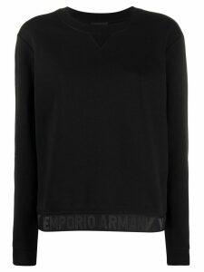 Emporio Armani hem-logo knit jumper - Black