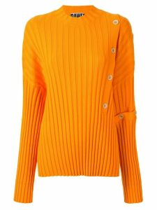 Dawei buttoned ribbed jumper - ORANGE