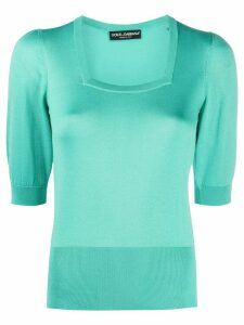 Dolce & Gabbana short-sleeve knitted top - Green