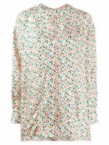 Marni floral printed silk blouse - NEUTRALS