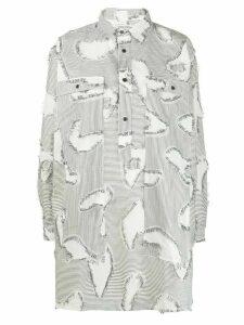 Henrik Vibskov stripe print Chop blouse - White